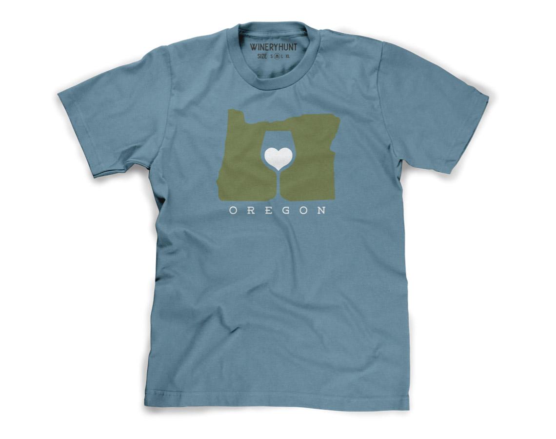 Love Oregon Wine Shirt