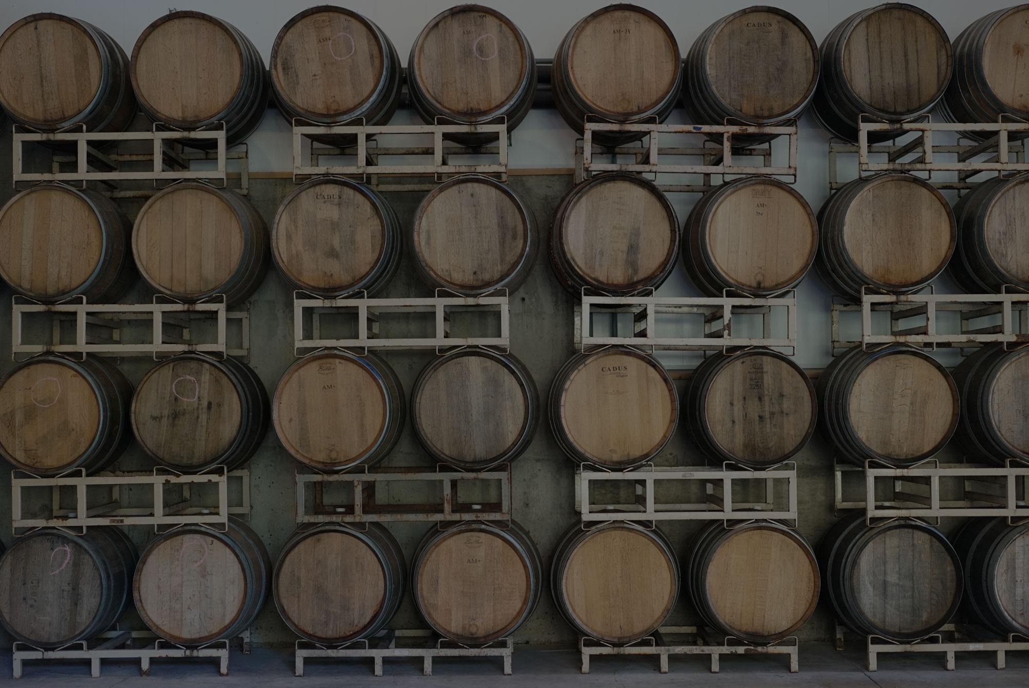 Best Oregon winery barrel room