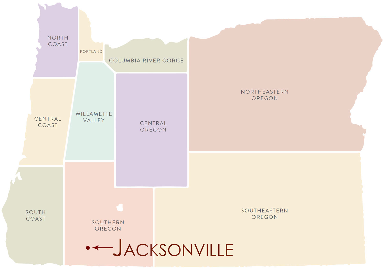 Downtown Jacksonville Wine Tasting Route Wineryhunt Oregon