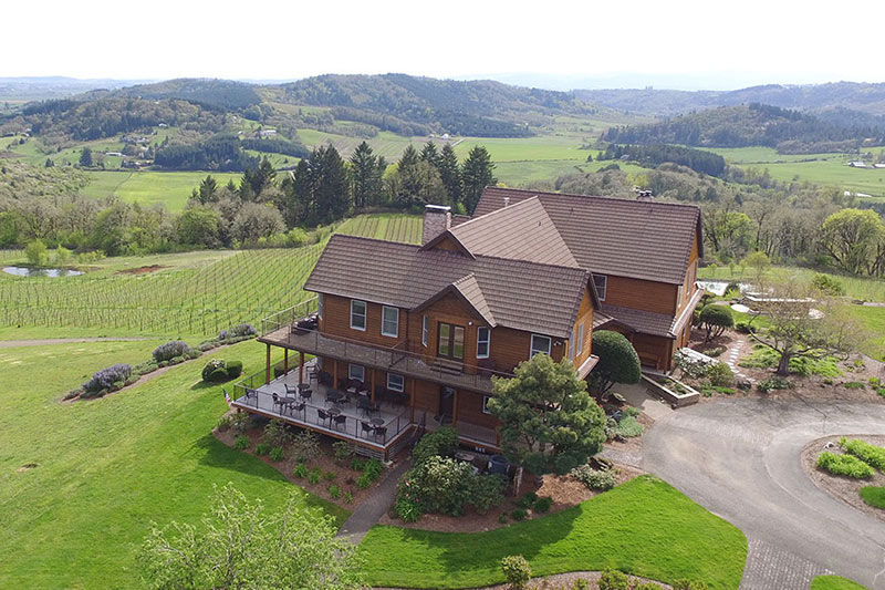 Oregon Wineries with Electric Vehicle Charging Youngberg Hill